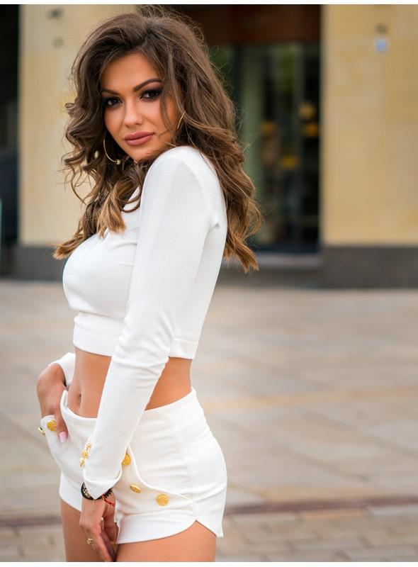 Komplet Rimini Short White